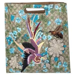 حقيبة يد توتس غوتشي لينيا C بلومز XL سوبريم GG