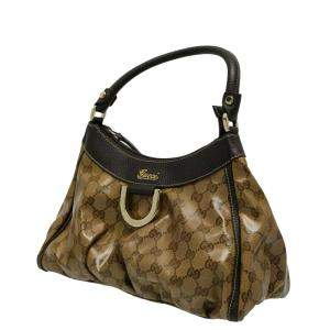 Gucci Brown Patent Leather Abbey D-Ring Shoulder Bag
