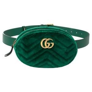 حقيبة خصر غوتشي GG مارمونت قطيفة ماتيلاس أخضر