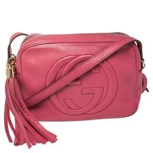 Gucci Pink Leather Small Soho Disco Crossbody Bag