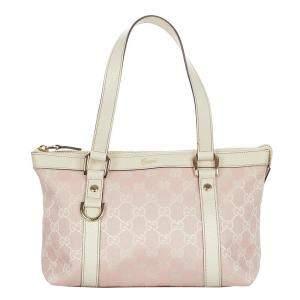 Gucci Pink Canvas Fabric Abbey Shoulder Bag