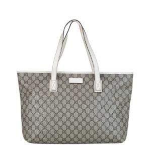 Gucci Brown/Beige GG Supreme Canvas Tote Bag