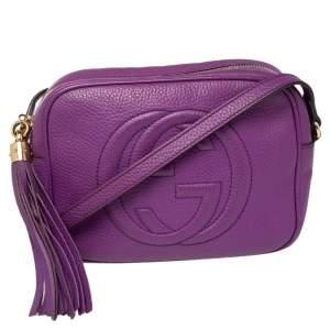 Gucci Purple Leather Soho Disco Crossbody Bag
