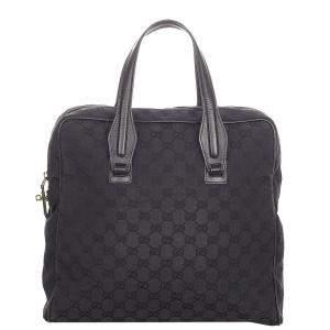Gucci Black GG Canvas Bag