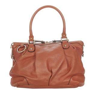 Gucci Brown Guccissima Leather Sukey Tote Bag