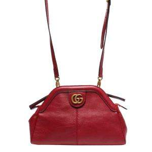 Gucci Red Leather Rebelle Shoulder Bag