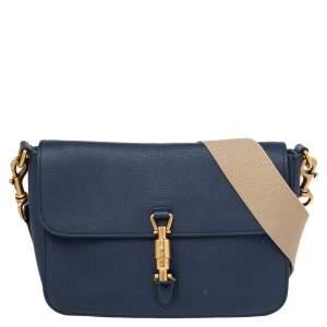Gucci Blue Leather Jackie Shoulder Bag