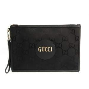 Gucci Black Canvas Off The Grid Clutch Bag