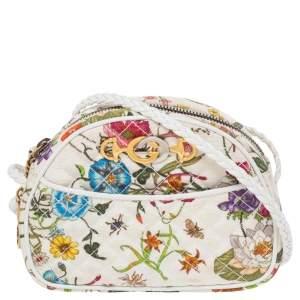 Gucci Multicolor Floral Quilted Canvas Zumi Shoulder Bag