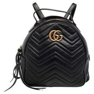 حقيبة ظهر غوتشي GG مارمونت جلد ماتيلاس أسود