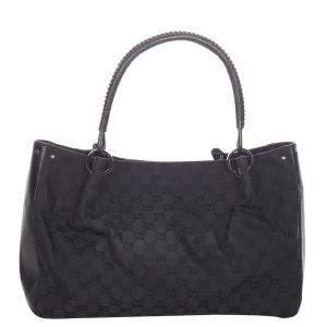 Gucci Black GG Canvas Tote Bag