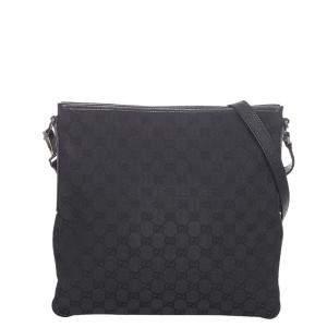 Gucci Black Canvas Fabric Messenger Bag
