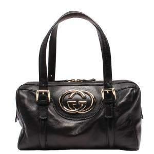 Gucci Black Leather Satchel Bag