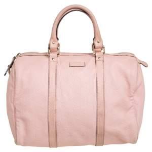 Gucci Dusty Pink Guccissima Leather Medium Joy Boston Bag