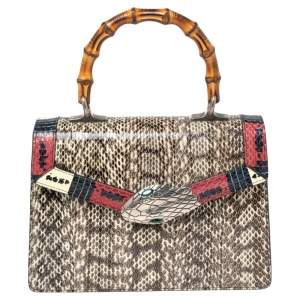 Gucci Multicolor Snakeskin Small Lilith Top Handle Bag