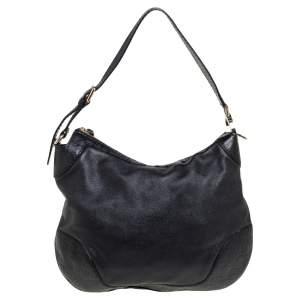 Gucci Black Guccissima Leather Charlotte Hobo