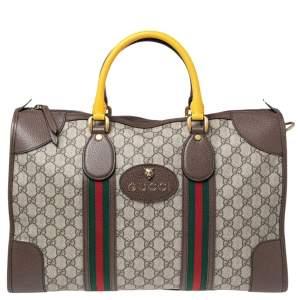 Gucci Beige/Ebony Soft GG Supreme Web Duffle Bag