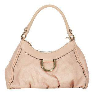 Gucci Pink Guccissima Abbey D-Ring Hobo Bag