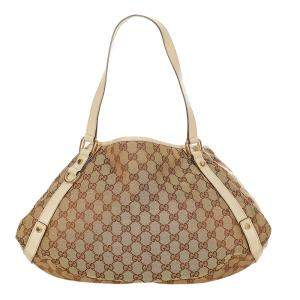 Gucci Brown/Beige Canvas Fabric Pelham Shoulder Bag