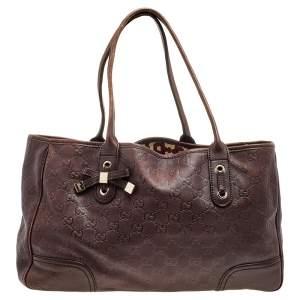 Gucci Brown Guccissima Leather Princy Tote