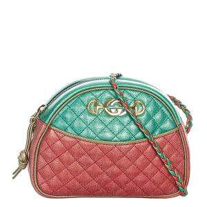Gucci Multicolor Leather Trapuntata Leather Crossbody Bag
