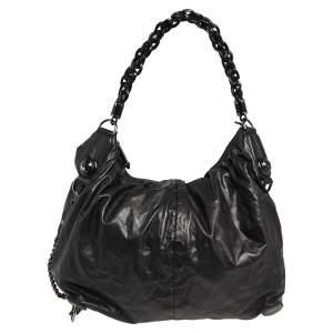 Gucci Black Soft Leather Galaxy Hobo