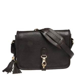 Gucci Dark Brown Leather Medium Marrakech Tassel Shoulder Bag