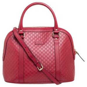 Gucci Red Microguccissima Leather Medium Dome Bag