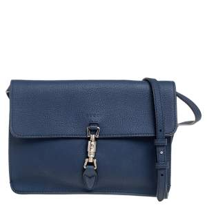 Gucci Navy Blue Leather Jackie Crossbody Bag