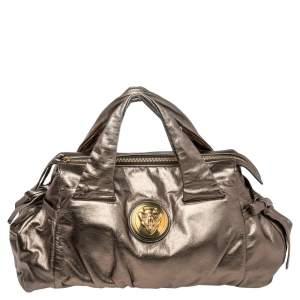 Gucci Metallic Gold Leather Hysteria Bag