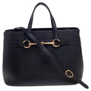 حقيبة يد غوتشي برايت بيت متوسطة جلد أسود