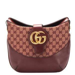 Gucci Brown GG Canvas Arli Shoulder Bag