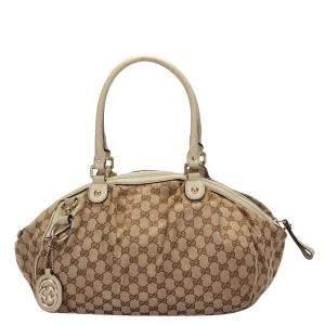 Gucci Brown GG Canvas Sukey Tote Bag