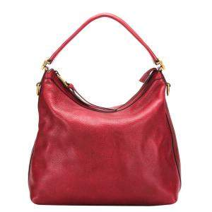 Gucci Red Leather Miss GG Shoulder Bag