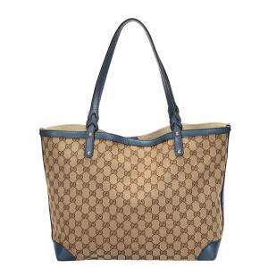 Gucci Brown GG Canvas Craft Tote Bag