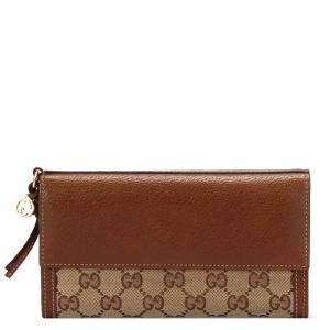 Gucci Brown GG Canvas Bree Wallet