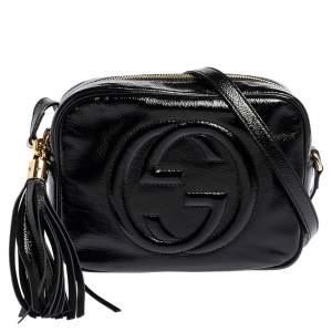 Gucci Black Patent Leather Small Soho Disco Crossbody Bag
