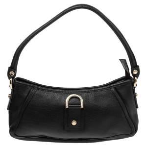 Gucci Black Leather Abbey D-Ring Shoulder Bag