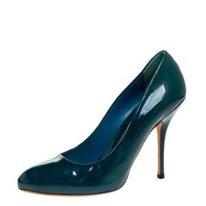 Gucci Green Patent Leather Pumps Size 38