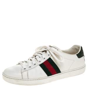 Gucci White Leather Ace Low Top Sneakers Size 36.5
