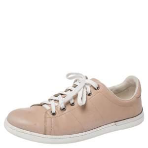 حذاء رياضي غوتشي دانتيل منخفض من أعلى بيج مقاس 37.5