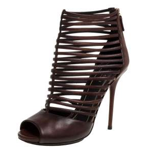 Gucci Brown Leather Strappy Inga Sandals Size 37.5