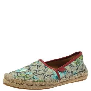 حذاء إسبادريلز غوتشى بلوسوم كانفاس سوبريم جى جى متعدد الألوان مقاس 39.5