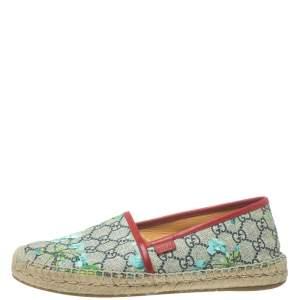 حذاء إسبادريل غوتشى فلات كانفاس طباعة بلوم سوبريم جى جى متعدد الألوان مقاس 40
