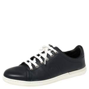 حذاء رياضى غوتشى منخفض من أعلى جلد كحلى مقاس 37.5