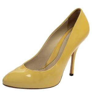 Gucci Yellow Patent Leather Pumps Size 36