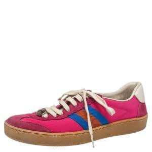 حذاء رياضي غوتشي فوربي قماش و سويدي متعدد الألوان مقاس 37.5