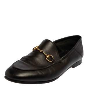 حذاء لوفرز غوتشى سليب أون هورسبيت جلد أسود مقاس 38