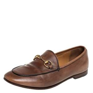 Gucci Brown Leather Horsebit Loafers Size 35