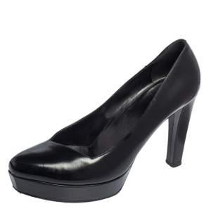 Gucci Black Patent Leather Platform Pumps Size 37.5